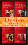 Desire September 2017 Books 1 - 4: A Family for the Billionaire (Billionaires and Babies, Book 87) / Little Secrets