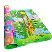 Cosway NON-TOXIC Baby Toddler Tow-Side Educational Foam Play Mat Picnic Cushion Crawling Mat 70.2''x78''x0.2''