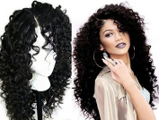 A2ZWIG African American Long Deep Curly Heat Resistant Synthetic Hair Wigs For Black Women 60cm