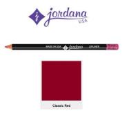 Jordana Longwear Lipliner Pencil 01 Classic Red by Jordana Cosmetics