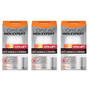 L'Oreal Paris Skin Care Men Expert Vita Lift Anti-Wrinkle and Firming Daily Moisture, 3 Count