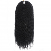 46cm Crochet Braids Senegalese Twist Hair Extension For women Synthetic Braiding Hair 80g 6pcs/lot