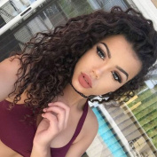 VoWigs Pre Plucked 13x 6 Lace Frontal Closure Deep Wave Curly Bleached Knots With Baby Hair Brazilian Virgin Human Hair Natural Colour Free Part