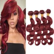Black Rose Hair 8A Unprocessed Brazilian Virgin Hair Body Wave 4 Bundles 18 18 20 50cm Colour 33# Auburn 100% Remy Human Hair extension Weaves . 95-100g/piece)
