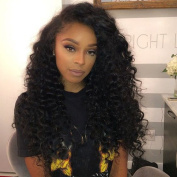 VoWigs 360 Lace Band Frontal Wig Deep Wave 180% Density Brazilian Human Virgin Hair Wigs With Baby Hair For Black Women