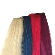 Remeehi Multi Colours Party Highlights Colourful Clip In Hair Extensions Straight Coloured Human Hair Extension Purple