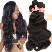 Pizazz Brazilian Hair Body Wave 3 Bundles 100% Unprocessed Virgin Human Hair Weave Brazilian Body Wave Natural Colour