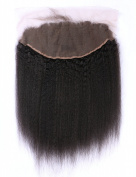 G-EASY Brazilian Frontal Kinky Straight Full Lace Closure with Baby Hair 13x 6 Frontals Ear to Ear Virgin Human Hair