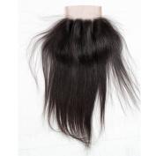 Lace Closure Human Hair 3 Part Hand Tied Landot Brazilain Virgin Hair Straight Lace Closure Natural Hair Colour Soft and Silky