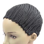 Razeal Clip in Cornrow Crochet Braided Wig Cap Adjustable Medium Size Crochet Wig Cap