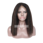 Jolitime Hair Yaki Straight Lace Front Human Hair Wigs Glueless Full Lace Wigs for Black Women Piano Colour Black and Brown Human Hair Wigs