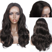 Vanessa Queen Synthetic Hair Wig Products Medium Length Wavy Synthetic Lace Front Wig Heat Resistant 50cm