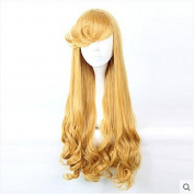 "Mcoser 29.52"" 75cm Sleeping Beauty Aurora Cosplay Blond Long Hair Cos Wig"