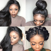 Fantasy Beauty Pre Pucked 360 Lace Frontal Wig Silky Straight Brazilian Remy Human Hair 360 Frontal Lace Wigs with Baby Hair for Black Women