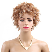 Synthetic Short Wigs for Women Afro Kinky curly Wig with Bangs Natural Hair Wigs Imported Premium High Temperature Fibre