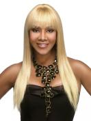 H157 Human Hair Wig by Vivica A Fox Wigs Womens Long Straight Yaki Texture - Colour GM613/27