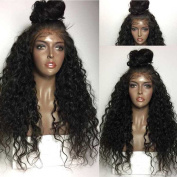 Kerrywigs Loose Curly Brazilian Hair Glueless Full Lace Wigs Baby Hair 150 Density Loose Wavy High Ponytail Human Hair Lace Front Wigs For Blck Women