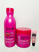 "Alea Coloured Hair Shampoo 500 Ml and Mask 400 Ml with Pomegranate Extract ""Free Starry Lipgloss 10 Ml"""
