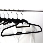 Youvinson 15 Pack of Velvet Clothes Hangers,Non-Slip Suit Hangers, Black