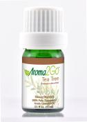 Aroma2Go Tea Tree 15ml All-Natural Essential Oil | Steam Distilled | Therapeutic Grade