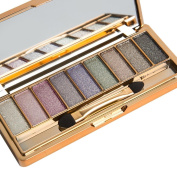 Mandy 9 Colours Shimmer Eyeshadow Eye Shadow Palette & Makeup Brush Set