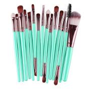 Fullkang 15pcs Makeup Brush Set tools Make-up Toiletry Kit Wool Make Up Brush Set