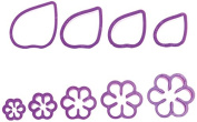 DECORA Gardenia Cutters Kit, Purple