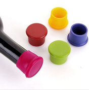 Edealing 5PCS Silicone Vacuum Sealed Sparkling Champagne Wine Bottle Saver Stopper Cap