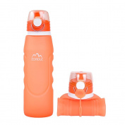 ZOADLE Collapsible Water Bottles - 1 Litre (1040ml), Leak Proof, BPA Free, FDA Approved, Portable and Reusable Silicone Water Bottles, for Travel, Sports and Outdoors