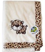 Beige Baby PV Blanket, Leopard Design
