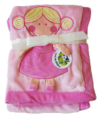 Plush Pink PV 3D Baby Girl Blanket
