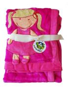 Plush Hot Pink PV 3D Baby Girl Blanket
