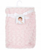 Blankets and Beyond Pink Rosette Baby Blanket