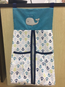 Baby ocean whale crib set nappy stacker