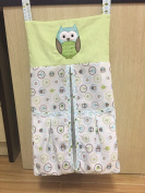 Baby Green Owl crib set nappy stacker
