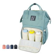 Wide Open Waterproof Baby Backpack by Sunveno-Travel Bag, Nappy Tote Bag w/Insulated Pockets