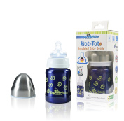 Pacific Baby Hot-Tot Insulated Stainless Steel Infant Baby Bottle with Anti-Colic Nipple BPA Free 120ml