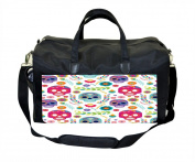 Sugar Skulls and Flowers Print Nappy Bag