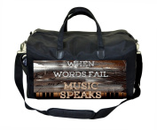 When Words Fail Music Speaks-Rustic Style- Nappy Bag
