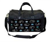 Blue Puppy Pawprints Nappy Bag