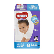 HUGGIES Little Movers Nappies Step 3, 140 Count
