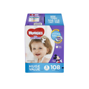 HUGGIES Little Movers Nappies, Step 5, 108 Count