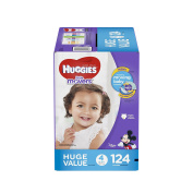 HUGGIES Little Movers Nappies Step 4, 124 Count