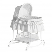 Dream On Me Willow Bassinet, White