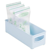 mDesign Baby Food Organiser Bin for Breast Milk Storage Bags/Formula - 25cm x 10cm x 7.6cm , Robin Egg Blue