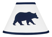 Navy Blue and White Lamp Shade for Big Bear Collection by Sweet Jojo Designs