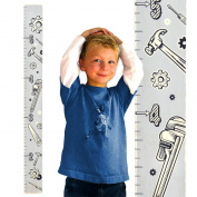 Growth Chart Art | Wall Hanging Wooden Growth Chart for Boys | Wood Height Chart | Baby Shower Gift | Tools