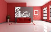 Wall Vinyl Sticker Decals Mural Room Design Pattern Art Decor Modern Abstract Floral Ornament mi534
