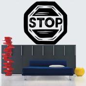 Wall Vinyl Sticker Decals Mural Room Design Pattern Art Decor Stop Sign Modern mi513