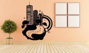 Wall Vinyl Sticker Decals Mural Room Design Pattern Art Decor Cuty Town Tree Urban Megalopolis Modern mi512